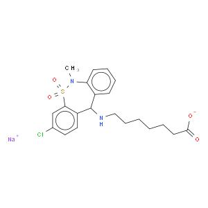 Heptanoic acid,7-[(3-chloro-6,11-dihydro-6-methyl-5,5-dioxidodibenzo[c,f][1,2]thiazepin-11-yl)amino]