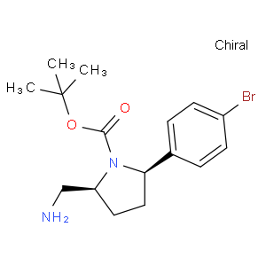 tert-butyl (2S,5R)-2-(aminomethyl)-5-(4-bromophenyl)pyrrolidine-1-carboxylate