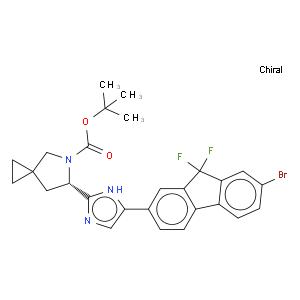 tert-Butyl (6S)-6-[5-(7-bromo-9,9-difluoro-9H-fluoren-2-yl)-1H-imidazol-2-yl]-5-azaspiro[2.4]heptane