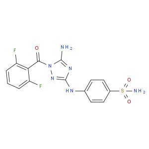 4-[[5-amino-1-(2,6-difluorobenzoyl)-1,2,4-triazol-3-yl]amino]benzenesulfonamide