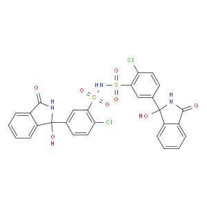 2-Chloro-N-[2-chloro-5-(1-hydroxy-3-oxo-2H-isoindol-1-yl)phenyl]sulfonyl-5-(1-hydroxy-3-oxo-2H-isoin