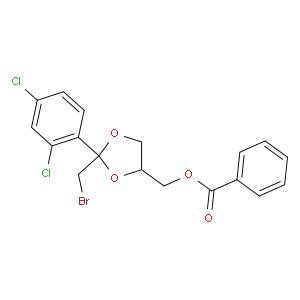 (cis-2-(Bromomethyl)-2-(2,4-dichlorophenyl)-1,3-dioxolan-4-yl)methyl benzoate