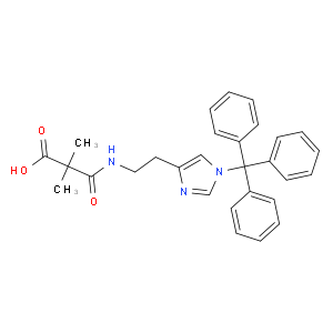2,2-Dimethyl-3-oxo-3-[2-(1-tritylimidazol-4-yl)ethylamino]propanoic acid