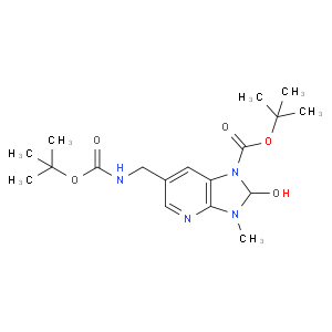Tert-butyl 2-hydroxy-3-methyl-6-[[(2-methylpropan-2-yl)oxycarbonylamino]methyl]-2H-imidazo[4,5-b]pyr