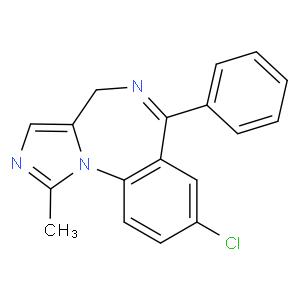 8-chloro-1-methyl-6-phenyl-4H-benzo[f]imidazo[1,5-a][1,4] diazepine