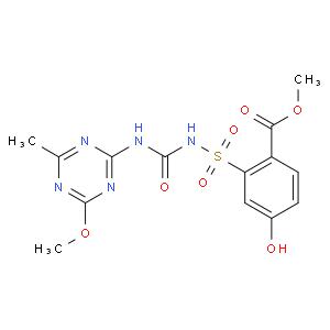 methyl 4-hydroxy-2-[(4-methoxy-6-methyl-1,3,5-triazin-2-yl)carbamoylsulfamoyl]benzoate