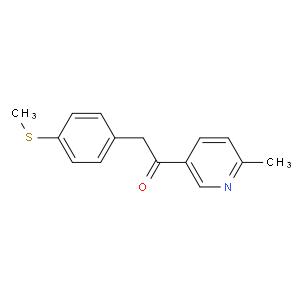 1-(6-methylpyridin-3-yl)-2-(4-methylsulfanylphenyl)ethanone