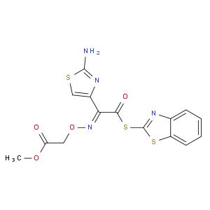 (Z)-Methyl 2-(((1-(2-aminothiazol-4-yl)-2-(benzo[d]thiazol-2-ylthio)-2-oxoethylidene)amino)oxy)aceta