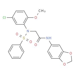 2-[N-(benzenesulfonyl)-5-chloro-2-methoxyanilino]-N-(1,3-benzodioxol-5-yl)acetamide