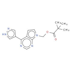 (4-(1H-pyrazol-4-yl)-7H-pyrrolo[2,3-d]pyrimidin-7-yl)methyl pivalate